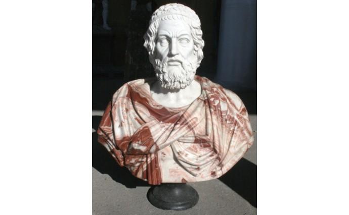 Скульптуры и Архитектурные изделия - Бюст Гомера из нескольких сортов мрамора