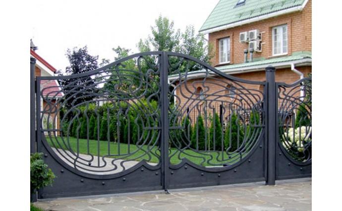 Кованые ворота - Распашные ворота 10