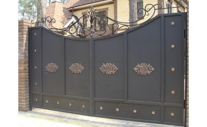 Кованые ворота - Распашные ворота 30