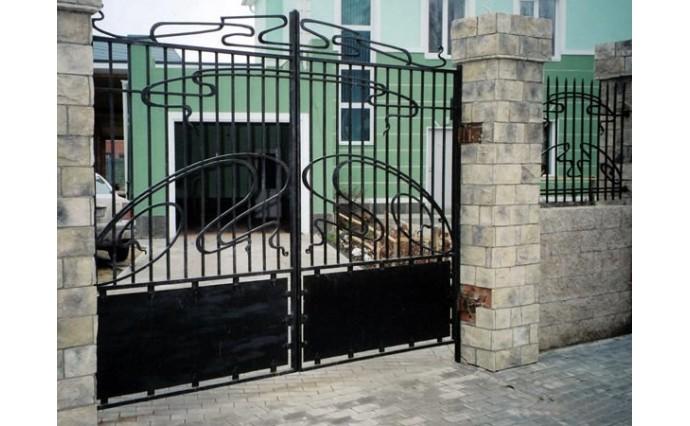 Кованые ворота - Распашные ворота 20