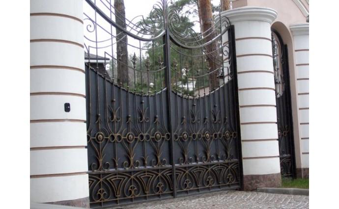 Кованые ворота - Распашные ворота 11