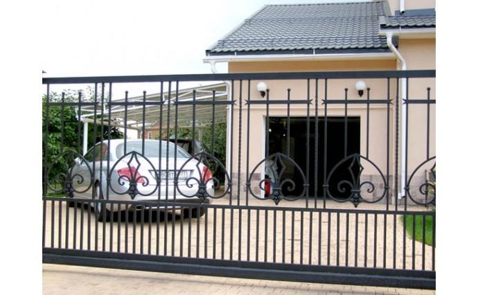 Кованые ворота - Откатные кованые ворота 22