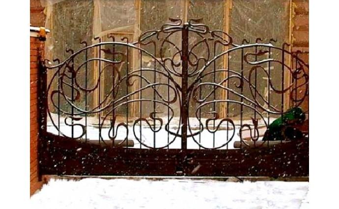 Кованые ворота - Распашные ворота 12