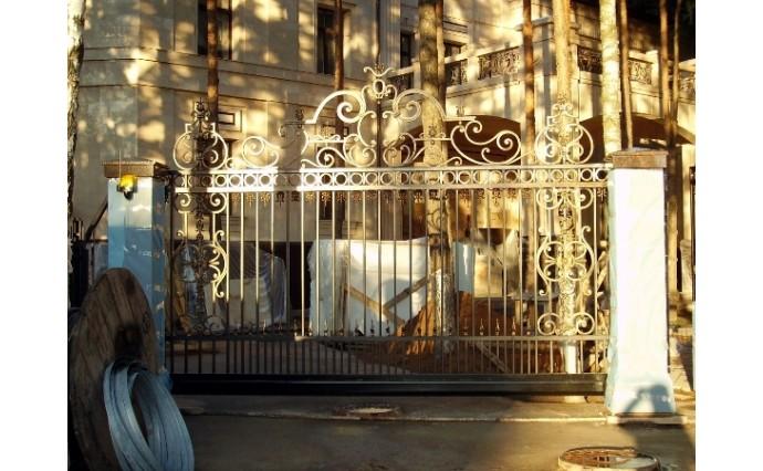 Кованые ворота - Откатные ворота 02