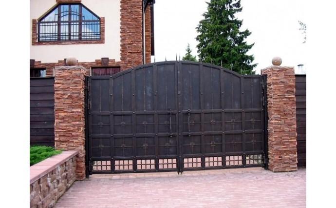 Кованые ворота - Распашные ворота 32