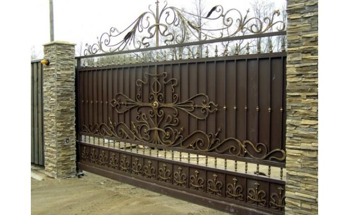 Кованые ворота - Откатные ворота 03