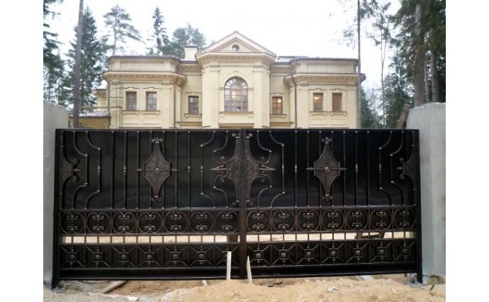 Кованые ворота - Распашные ворота 23