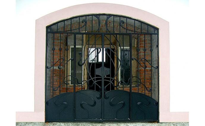 Кованые ворота - Распашные ворота 13