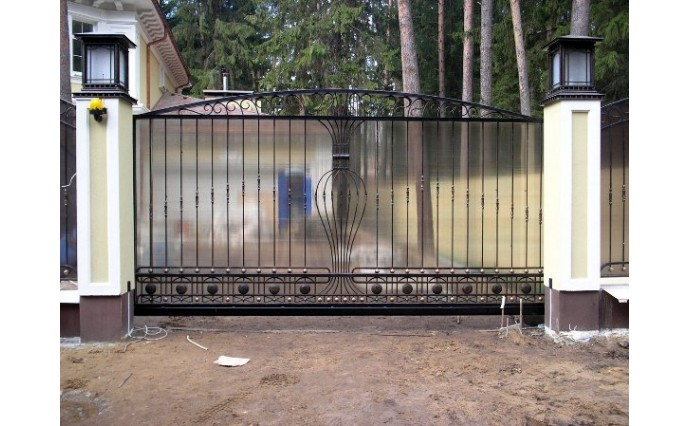 Кованые ворота - Откатные ворота 24