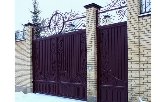 Кованые ворота - Распашные ворота 14