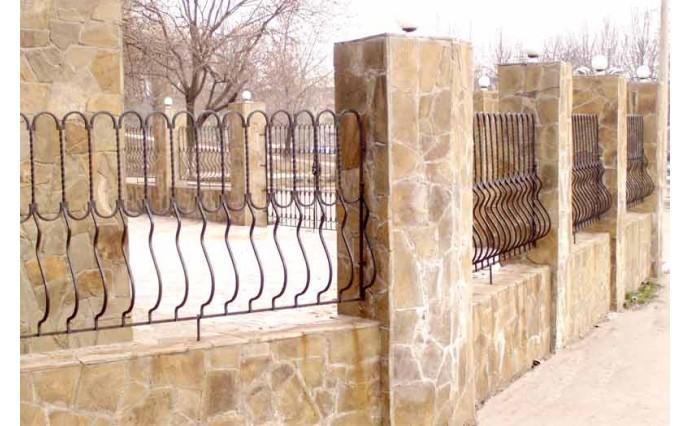 Кованые заборы  - Кованый забор (Арт.: z012)
