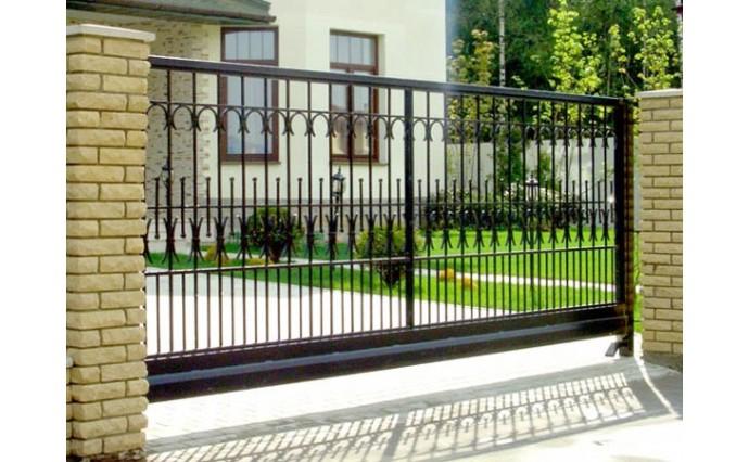 Кованые ворота - Откатные ворота 25