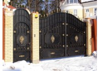 Кованые ворота и калитка 15