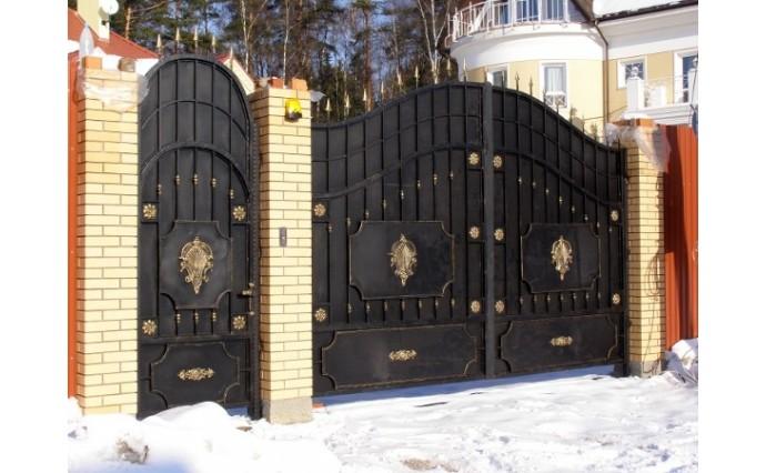 Кованые ворота - Кованые ворота и калитка 15
