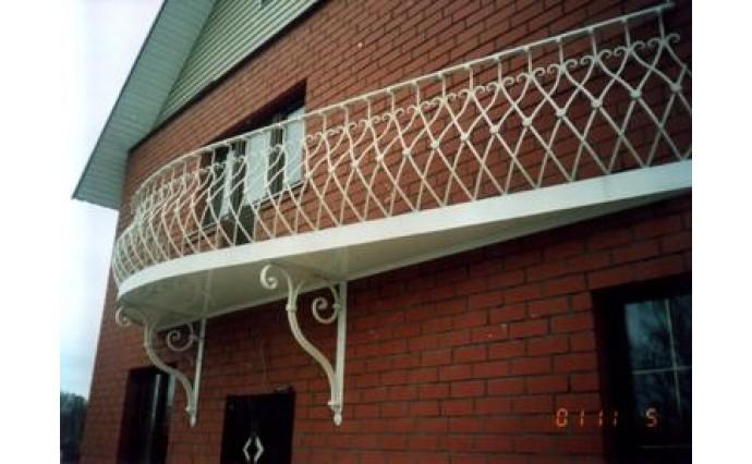 Кованый балкон - Кованый балкон №8
