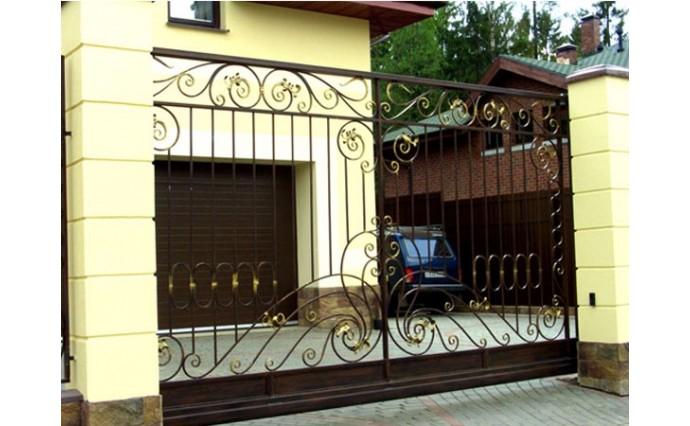 Кованые ворота - Откатные кованые ворота 26
