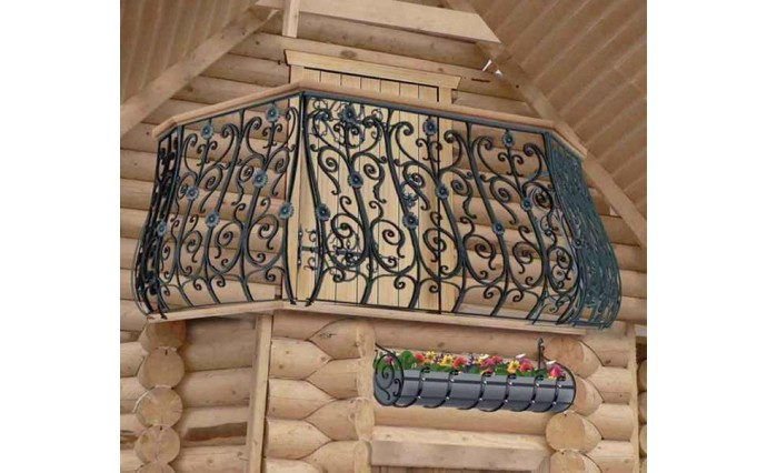 Кованый балкон - Кованый балкон №26