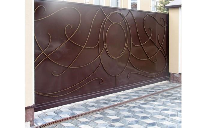 Кованые ворота - Откатные кованые ворота 27