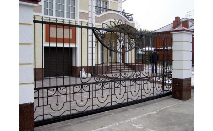 Кованые ворота - Откатные ворота 28
