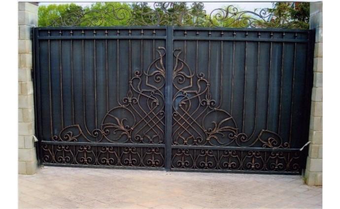 Кованые ворота - Распашные ворота 08