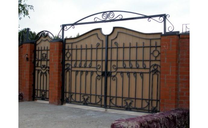 Кованые ворота - Распашные ворота 09