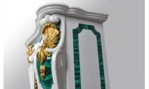 """Камины - Мраморный камин """"Паива"""" в стиле рококо с инкрустациями из малахита и бронзы"""