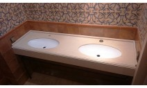 Столешницы из гранита - Столешница в ванную комнату из Кварцевого агломерата фабрики CesarStone