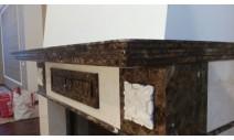 Камины из мрамора - Изысканный камин из натурального камня с художественными мраморными розетками