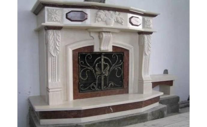 Камины - Каминный портал Амальгама с применением художественной резьбы