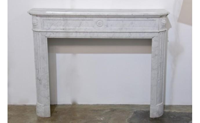 Камины - Мраморный портал Bianco Carrara