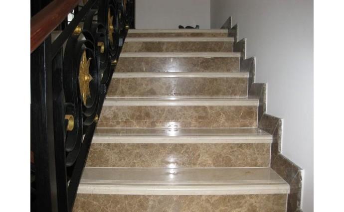 Лестницы из мрамора - Мраморная лестница Emperador Light II
