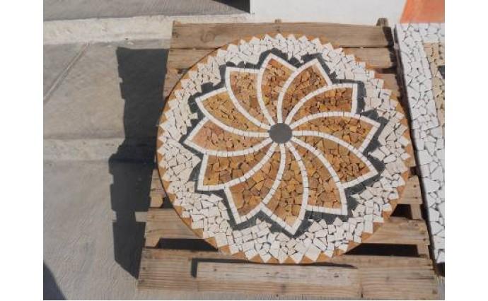 Розетки и мозаики из мрамора - Мозаичная розетка №1