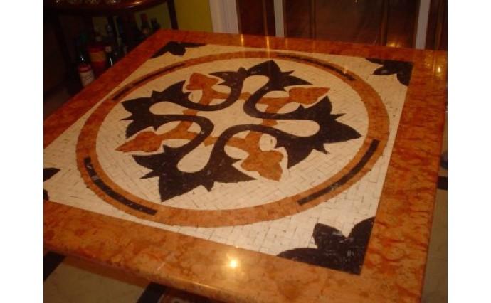 Розетки и мозаики из мрамора - Наборная мозаика