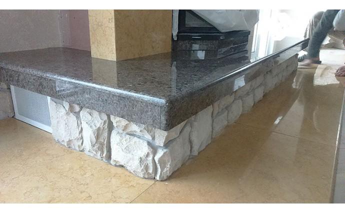 Камины - Облицовка камина природным камнем
