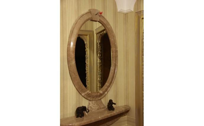 Элементы декора - Зеркальное обрамление из мрамора