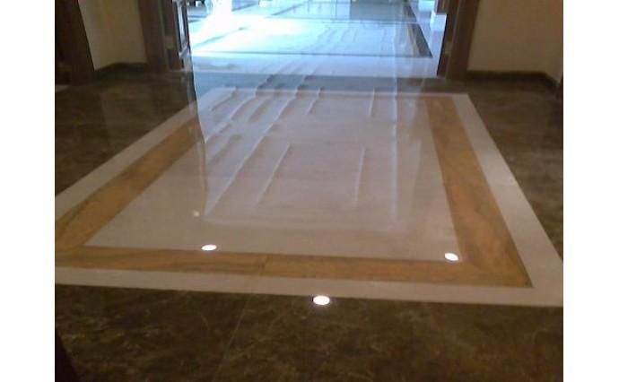 Облицовка мрамором и гранитом - Мраморный холл из Emperadora, Civika и Тravertina