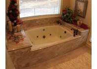 Облицовка ванной комнаты мрамором Emperador Light