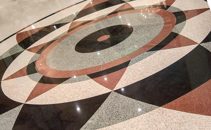 Гранитные полы - Мозаичный пол из гранита