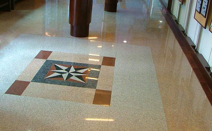Гранитные полы - Мозаичный гранитный пол