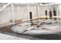 Мозаичные рисунки на полу из гранита
