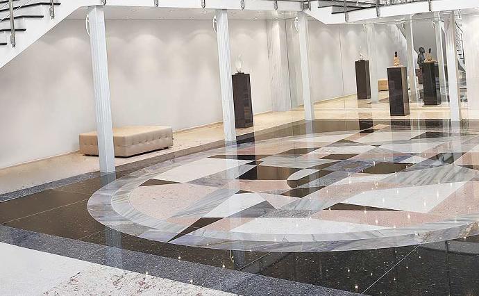 Гранитные полы - Мозаичные рисунки на полу из гранита