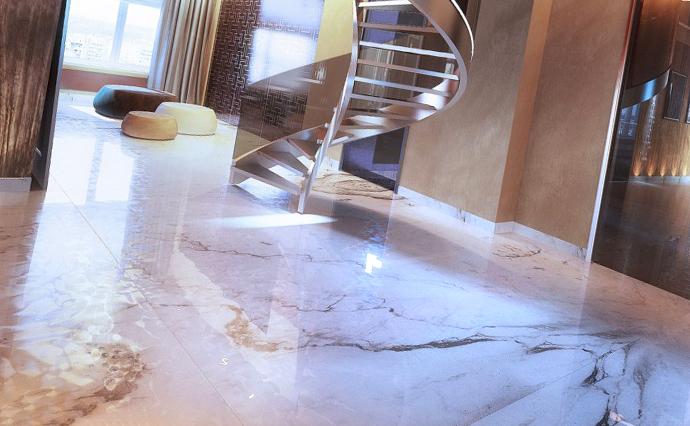 Мраморные полы - Мраморный пол для жилого дома