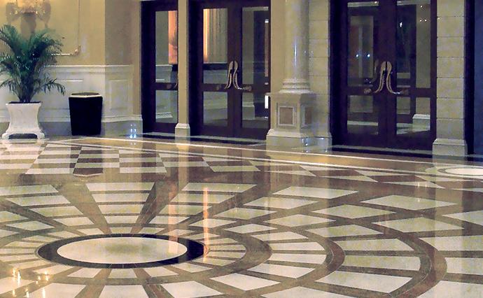 Мраморные полы - Пол из мрамора для больших гостиных