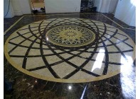 Мраморный мозаичный пол