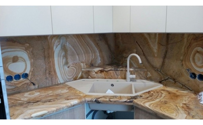 Столешницы из гранита - Столешница на кухню из кварцита Wood Stone
