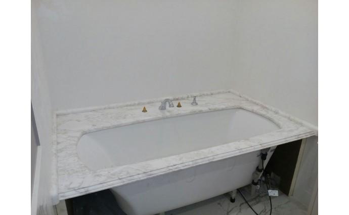 Столешницы из мрамора - Обрамление ванны из мрамора Volokas