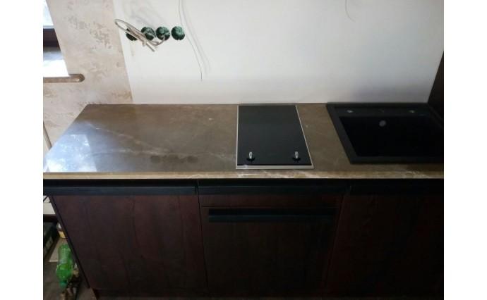 Столешницы из мрамора - Кухонная столешница из мрамора Emperador light Spain
