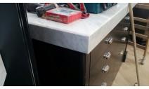 Столешницы из мрамора - Столешницы с подклейкой 80 мм из мрамора Bianca Carrara