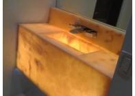 Столешница из оникса Lotus Orancio